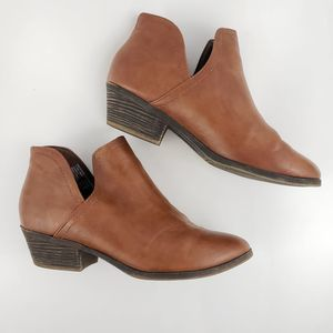 Faded Glory Brown Ankle Booties Size 8